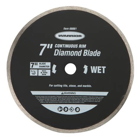 7 in continuous rim wet cut masonry diamond blade