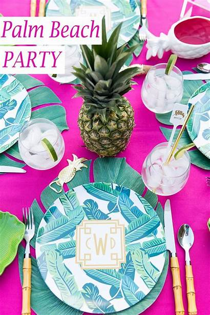 Palm Chic Tablescape Throw Pizzazzerie Parties