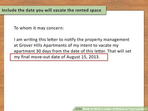 move out letter how to write a letter of notice to your landlord 14 steps