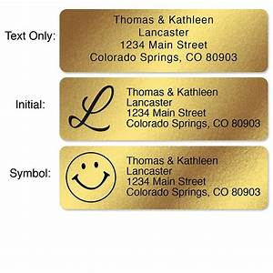 gold foil standard rolled address labels christmas With gold foil mailing labels