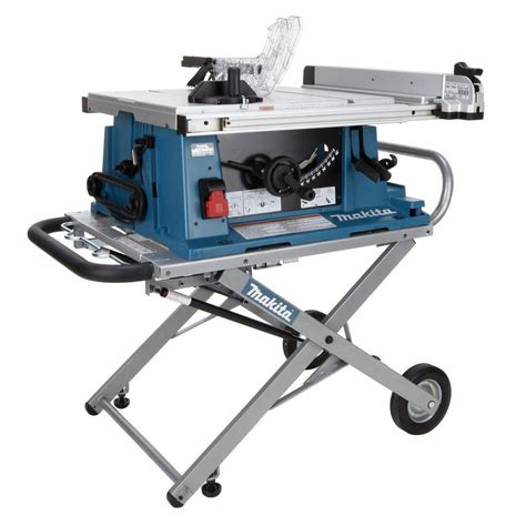 portable table saw stand makita 2705x1 10 in portable contractor table saw with