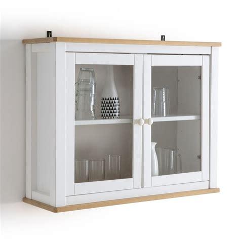 vitrine de cuisine étagère vitrine pin massif alvina la redoute interieurs