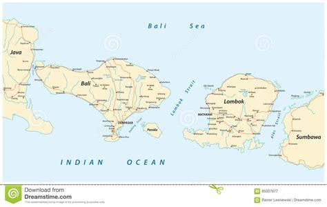 road map  indonesian lesser sunda islands bali