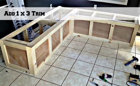 Plans For Building Kitchen Banquette Seating - remodelaholic build a custom corner banquette bench