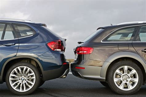 Bmw X1 Versus X3 by Photoshoot X1 Versus A4 Allroad Touring