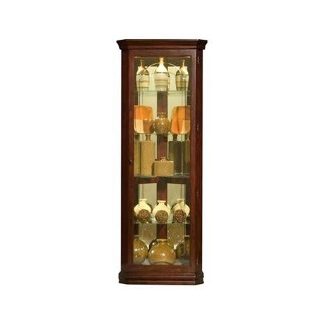 pulaski curios five shelf corner cabinet in victorian