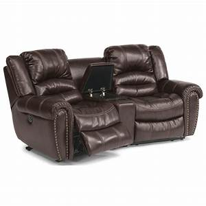 Flexsteel crosstown three piece power reclining sectional for 3 pc sectional sofa with recliners