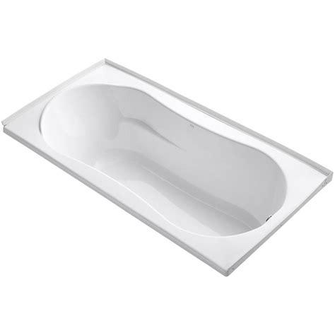 kohler 45 ft front drain soaking tub in white