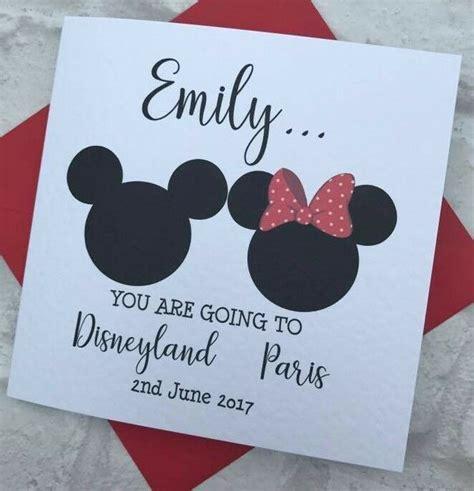 You Re Going To Disneyland Printable Personalised You Are Going To Disneyland Card Paris