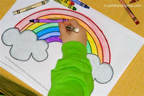 kid color pages  st patricks day