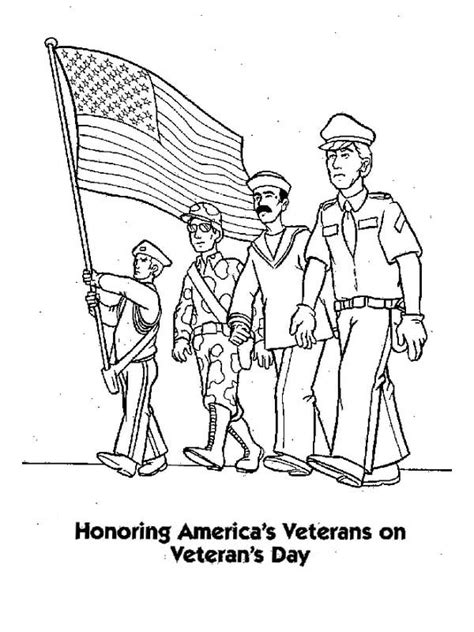 Veterans Day Coloring Pages To Print# 2790420