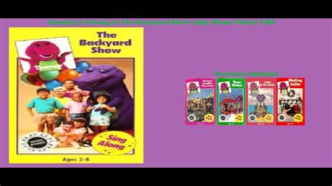 Barney And The Backyard Vhs by Barney The Backyard Show 1992 Home Vhs Opening