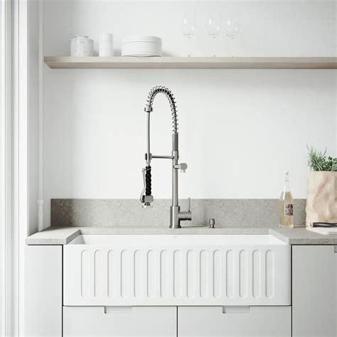 farmhouse stainless steel kitchen sink vigo farmhouse apron front stainless steel 33 in single 8914