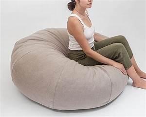 Round, Large, Round, Wool, Bean, Bag, Chair