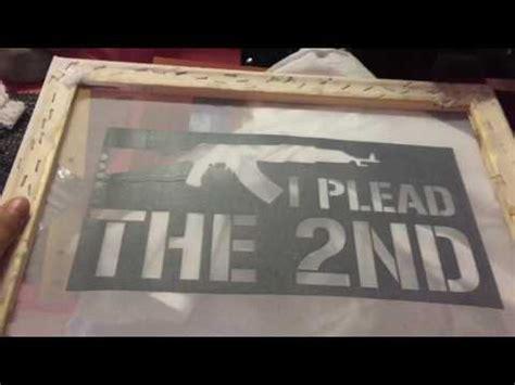 diy screen printing  vinyl start  finish materials