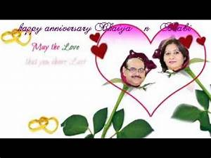 wedding anniversary video with your name picture song With wedding cards photo editor