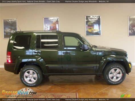 dark green jeep liberty 2011 jeep liberty sport 4x4 natural green metallic dark