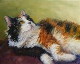 cat painting daily painting projects calico in repose painting cat