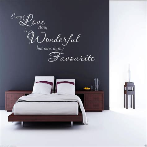 sticker phrase chambre chaque amour histoire mur sticker chambre citation sticker