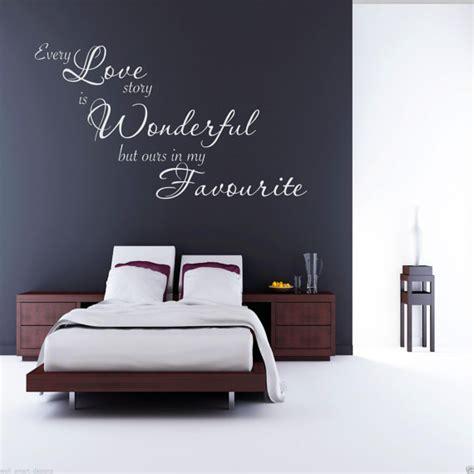 sticker citation chambre chaque amour histoire mur sticker chambre citation sticker