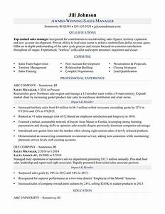 sales manager resume sample monstercom With best sales manager resume