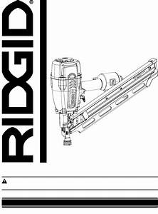 Ridgid Nail Gun R350cha User Guide