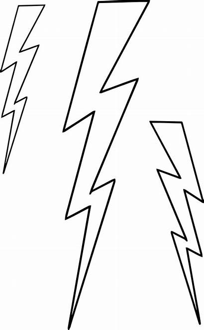 Coloring Lightning Bolt Lightningbolt Three Lightening Wecoloringpage