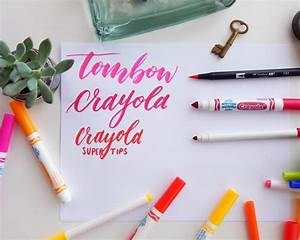 how to use crayola markers to create modern brush With lettering markers