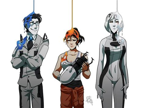 Wheatley Chell And Glados Portal 2 Video Games