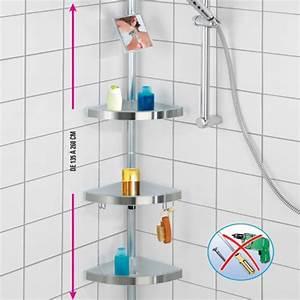 Etagere Sans Vis : tag re de douche t l scopique acheter salle de bain ~ Premium-room.com Idées de Décoration