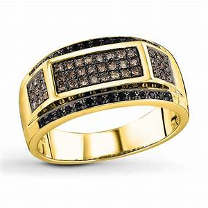 Mens Black Gold Diamond Ring   Diamondstud