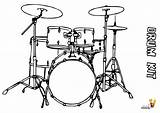 Drum Coloring Drums Kit Printables Printable Instrument Yescoloring Musical Pounding sketch template