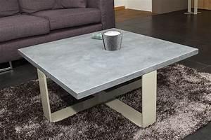 Table Basse En Beton : table basse en pierre bleue jeliodesign ~ Teatrodelosmanantiales.com Idées de Décoration