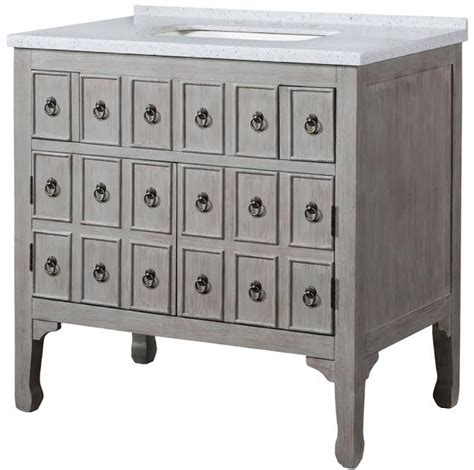 single sink bathroom vanity  distressed gray