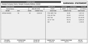 sample pay stub template With free online paystub template