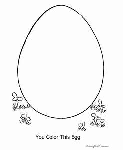 Preschool Easter Egg Coloring Pages - 013
