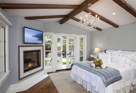 sherwin williams mega greige bedroom traditional with tv