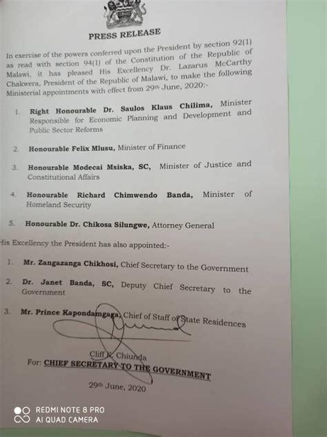 President Dr Lazarus Chakwera has made... - Calvary Family ...