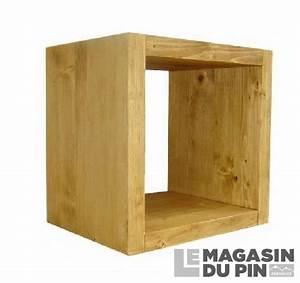 Cube En Bois Rangement : cube de rangement 1 niche en pin massif chamonix le ~ Edinachiropracticcenter.com Idées de Décoration