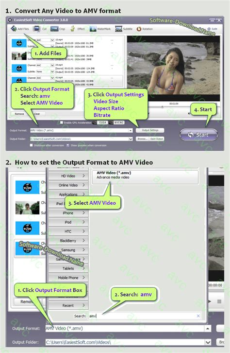 amv avc windows format software mpeg1 factory converter convert converte fast win8 computer easiest