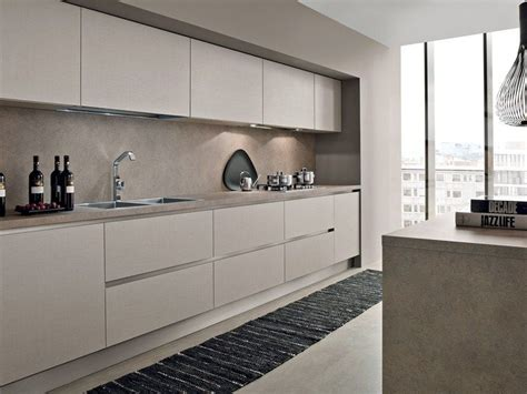 Linear Kitchen With Island Ak01  Kitchen With Island
