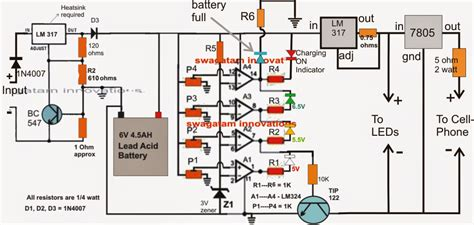 Battery Charge Controller With Over Current Protections