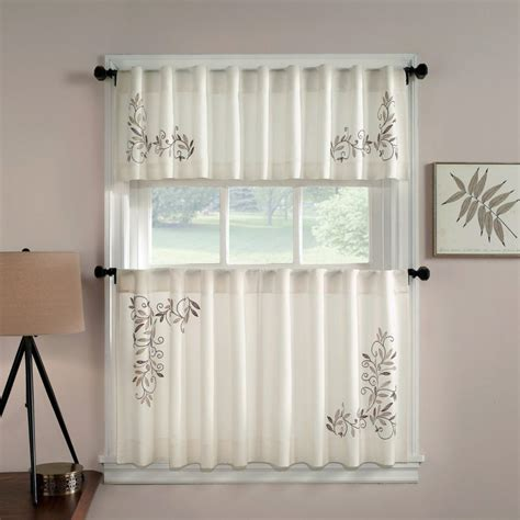 White Modern Kitchen Curtains  Going To Modern Kitchen