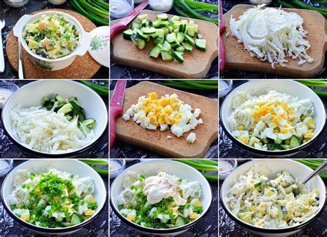Salāti ar gurķiem, Ķīnas kāpostiem un olām - Laiki mainās!