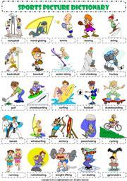 sports esl printable worksheets  exercises