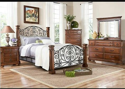 Charleston Bed At Rooms To Go #i Love The Mix Of Wrought