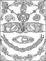 Coloring Pages Jewelry Nouveau Dover Necklace Printable Bracelet Publications Buckle Belt Books Adult Colouring Drawing Welcome Brac Bracelets Printables Doverpublications sketch template