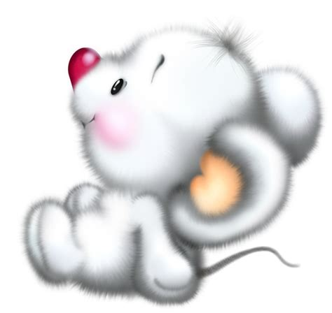 cute white mouse cartoon  clipart gallery