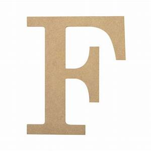 "10"" Decorative Wood Letter: F [AB2030] - CraftOutlet.com