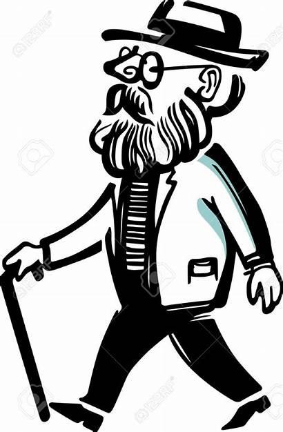 Clipart Grandpa Walker Cartoon Walking Vector Recruiting